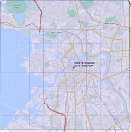 4 Карта Санкт-Петербурга для Cities Skylines