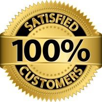 100% customer satisfaction emblem.