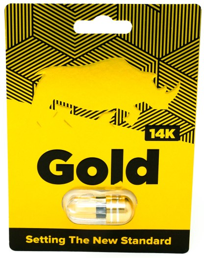 Rhino Gold 14-K Male Enhancement Supplement Blister Pack Front