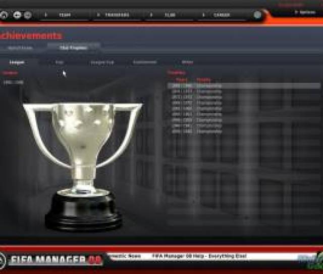 Fifa Manager 08 Allows The Player To Take Control Of A Football Team The Player Has Almost The Complete Club In His Control Including The Ability To