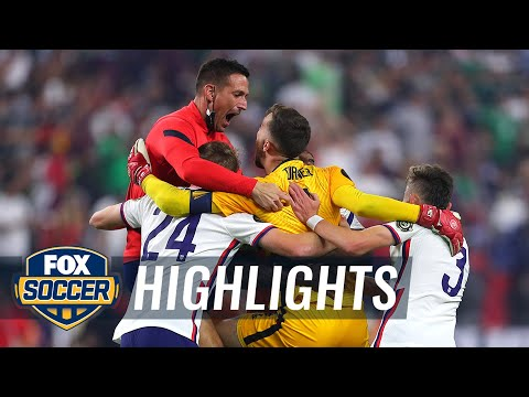 Watch USMNT celebrate winning Gold Cup after defeating Mexico, 1-0   2021 Gold Cup