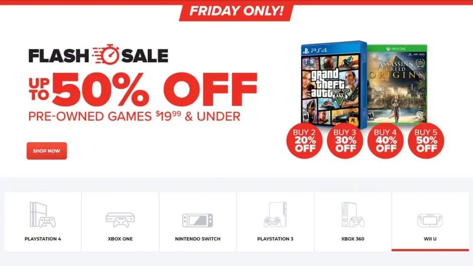 GameStop pre-owned flash sale
