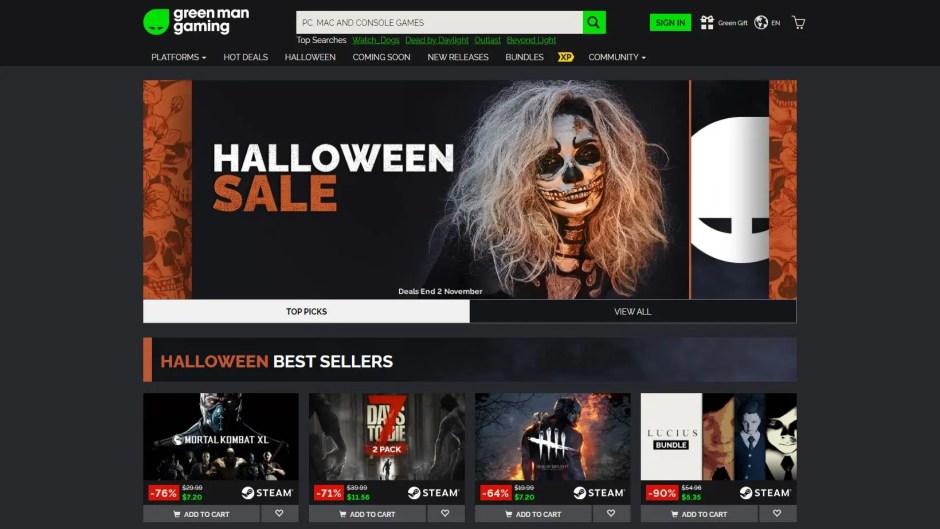 Green Man Gaming Halloween Sale
