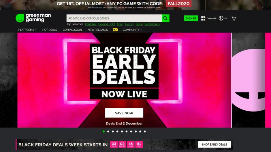 Green Man Gaming Black Friday Early Deals