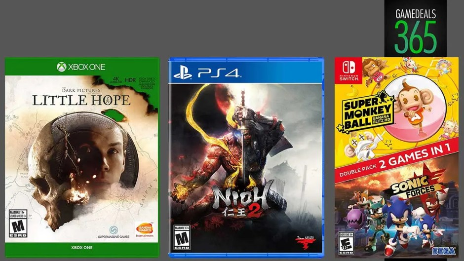Nioh 2, The Dark Pictures Anthology: Little Hope, Super Monkey Ball: Banana Blitz HD + Sonic Forces Double Pack