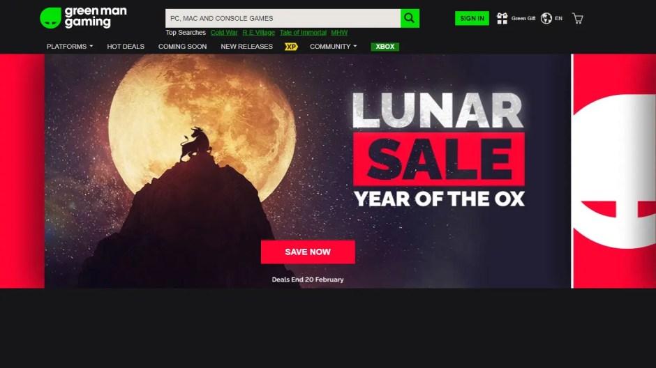 Green Man Gaming Lunar Sale