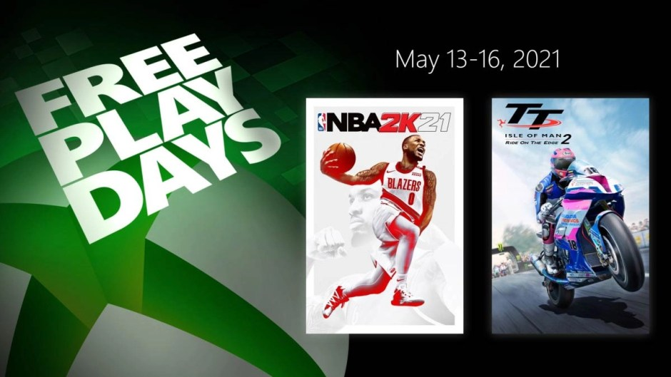 NBA 2K21 and TT Isle of Man: Ride on the Edge 2 Xbox Free Play Days