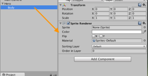 Adding sprite renderer