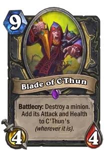 Hearthstone Blade of Cthun