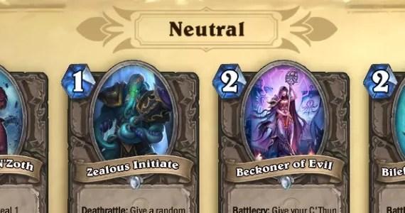 Hearthstone OG Neutrals