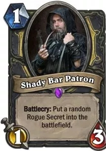 Hearthstone Shady Bar Patron