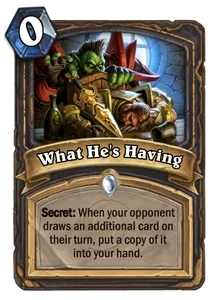 Hearthstone What Hes Having