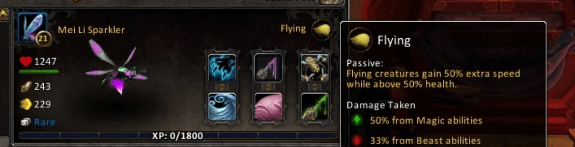 WoW Pet Battle Perks Flying