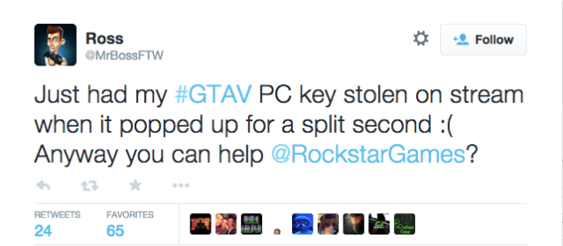 This Dummy Shared his GTA V Key Live on YouTube