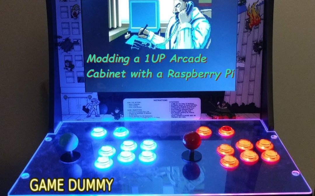 Modding a 1UP Arcade Cabinet with a Raspberry Pi