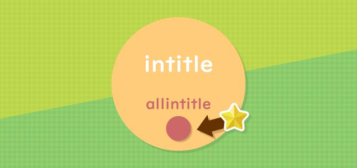 intitleとallintitleを使って、ライバルのいないキーワードを見つけよう