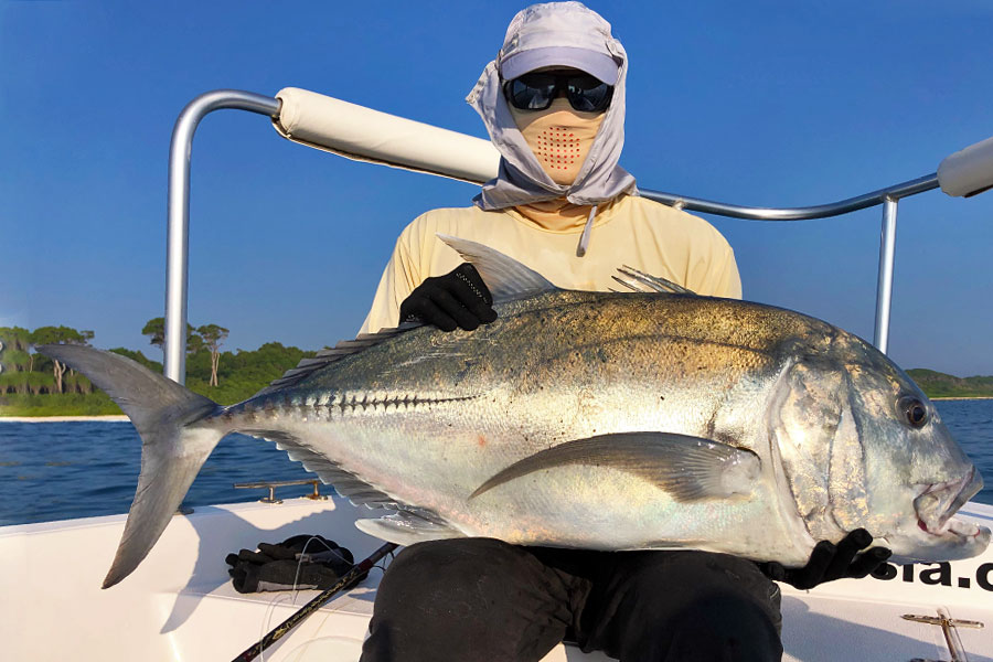 giant-trevally_popping_andaman_race-point-150-rod_shimano-tw-14000-reel_ballyhoo-popper_suresh
