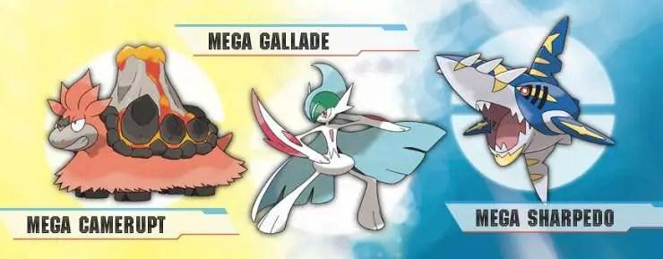 Pokemon Omega Ruby Alpha Sapphire - Hoenn Megas