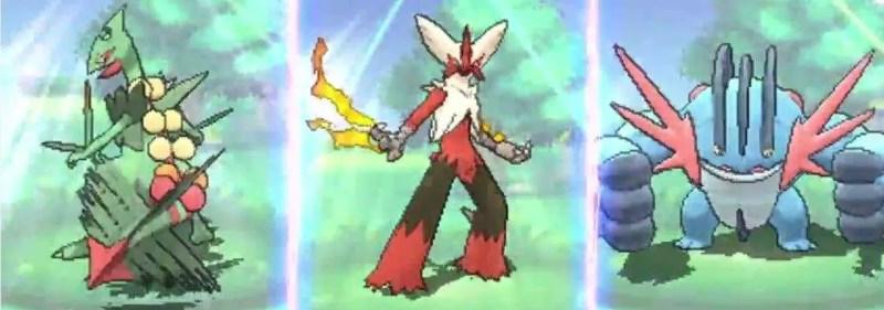Pokemon Omega Ruby Alpha Sapphire - Mega Gen 3 Starters