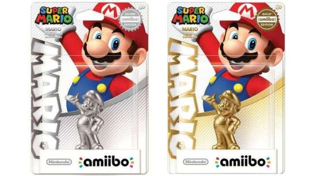 Amiibo - Gold and Silver Mario