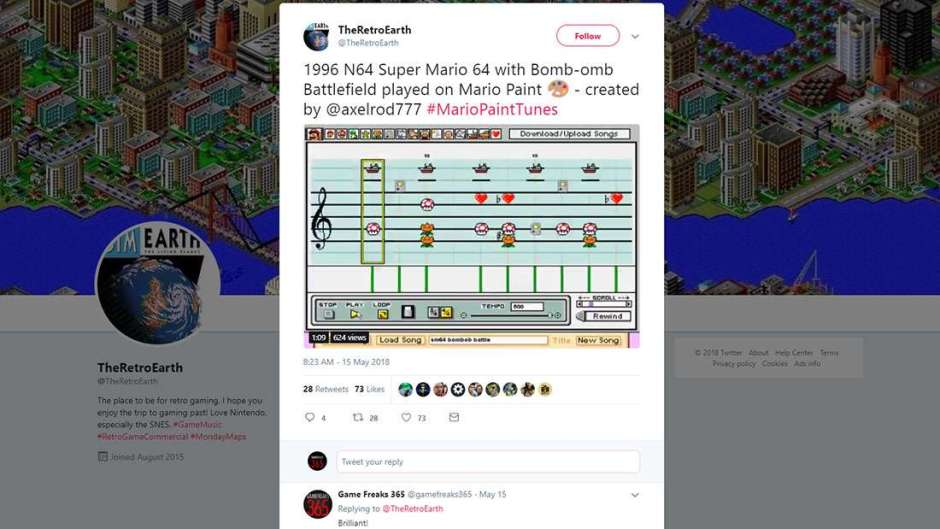 Fan Recreates Super Mario 64 Music in Mario Paint - Game