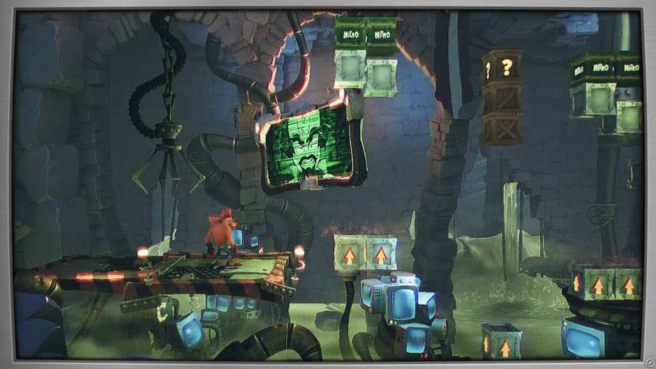Crash Bandicoot 4: It's About Time flashback level screenshot