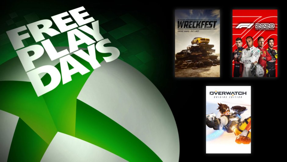 Xbox Free Play Days: F1 2020, Wreckfest, and Overwatch