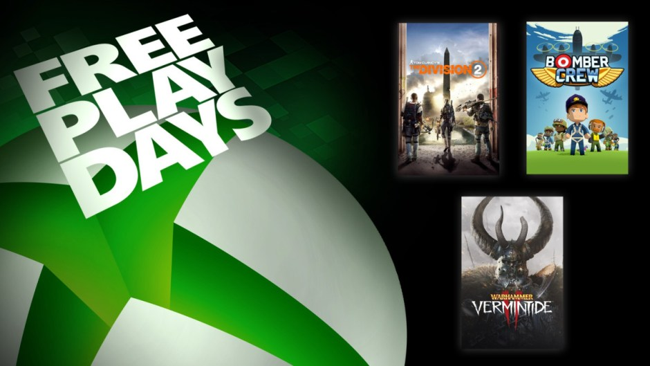 Xbox Free Play Days: The Division 2, Bomber Crew, Warhammer: Vermintide 2