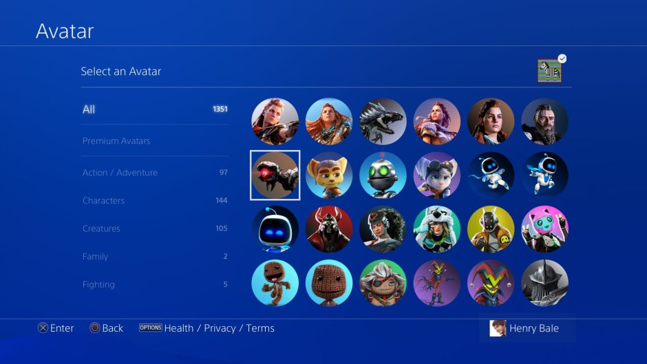 PS4 avatars