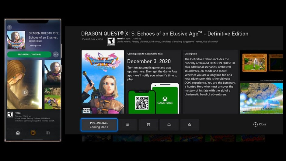 pre-install certain Xbox Game Pass titles