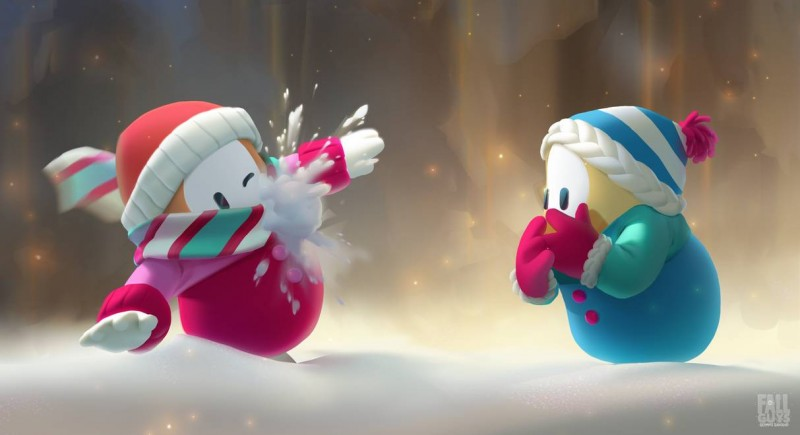 Fall Guys: Ultimate Knockout snowballs