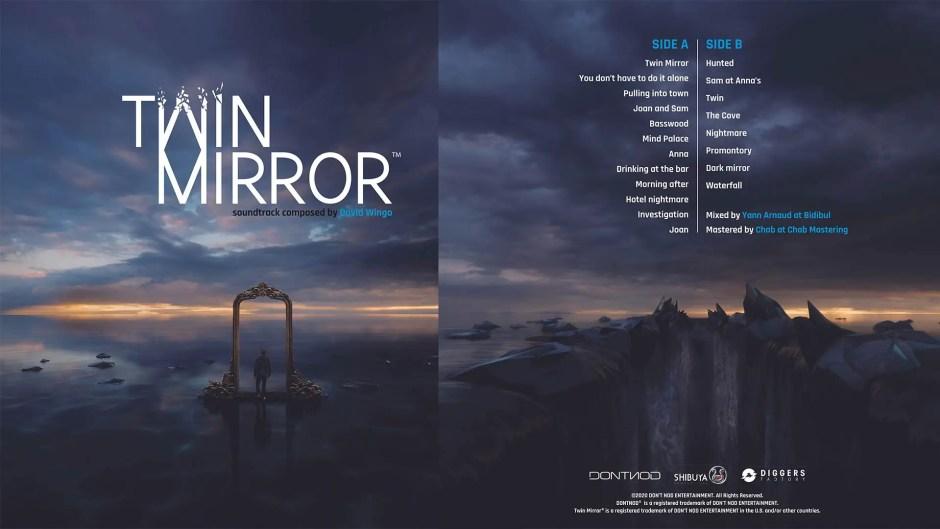Twin Mirror limited edition vinyl original soundtrack cover