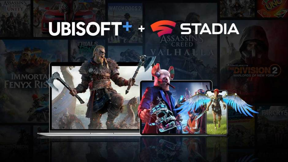 Ubisoft+ on Google Stadia