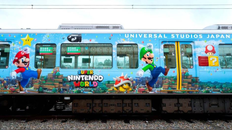 Super Nintendo World train Universal Studios Japan