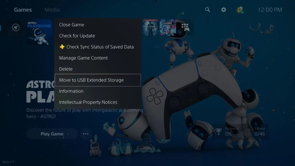 PS5 firmware update adds support for external USB storage