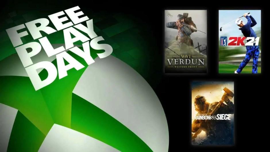 Xbox Free Play Days: Rainbow Six Siege, Verdun, PGA Tour 2K21