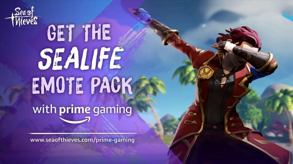 Sealife Emote Pack Sea of Thieves Prime Gaming
