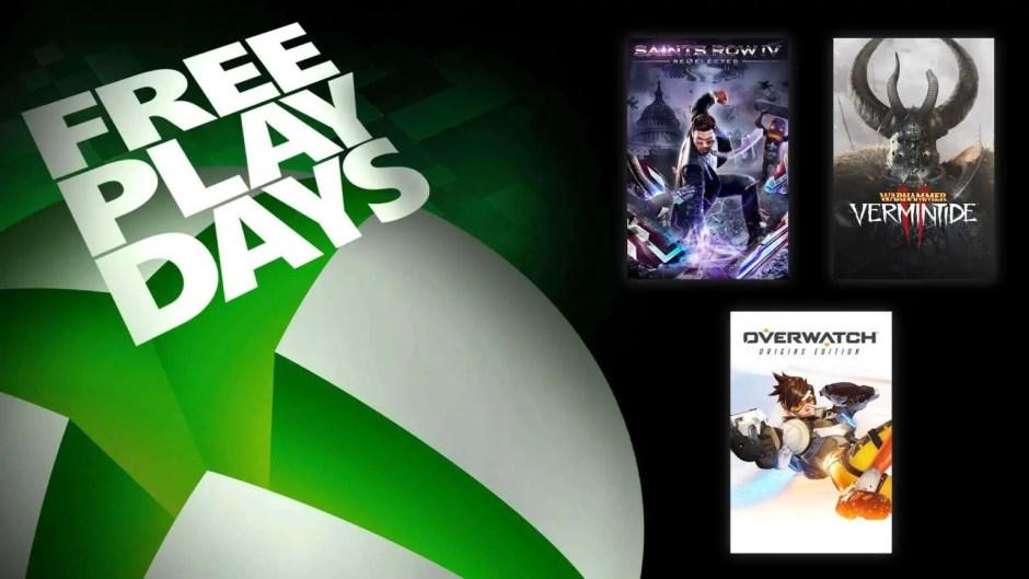 Xbox Free Play Days: Saints Row IV, Overwatch, Warhammer Vermintide 2