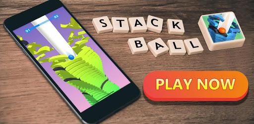 Stack Ball Blast through platforms