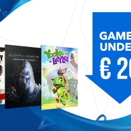Playstation 'Games under €20' Discount Started
