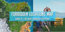 Fortnite Season 7 Forbidden Locations Map - Dance at 7 different forbidden locations challenge