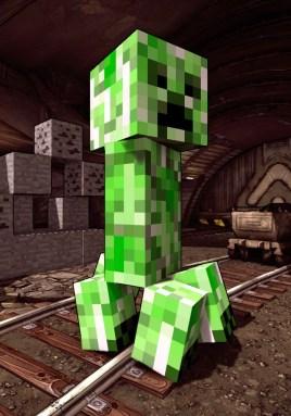 Creeper in Borderland's secret Minecraft Cave