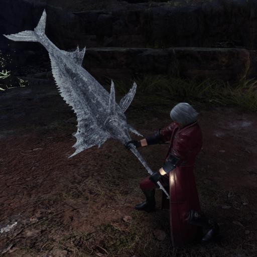 Frozen swordfish greatsword monster hunter world