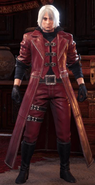 dante devil may cry monster hunter world armor set