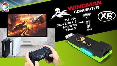 Xboxプレイヤーが喜ぶ!コントローラを任意に選べる、異なるプラットフォームに制限されることないBrook Wingman XBコントローラ変換アダプター