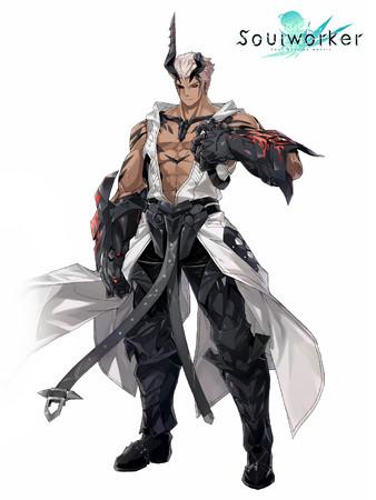 強靭な肉体と黒い爪の武器が目を引くラピッドフレイムのリーダー「フランマ」。欠けた角は何を意味するのか…