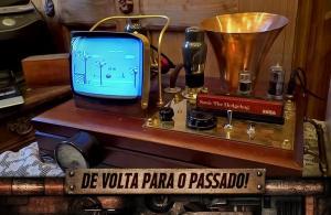 Do século XIX para os dias atuais! Veja o Master System Steampunk feito por artista!