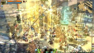 Tree of Savior - Muitos jogadores na tela