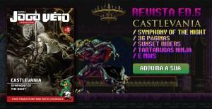 Castlevania: Symphony of the Night é capa da Revista  Jogo Véio Nº5