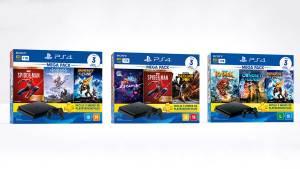 Sony anuncia três novos Mega Packs do PS4 para o Brasil